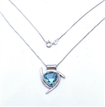 5 CT. BLUE TOPAZ NECKLACE IN STERLING SILVER