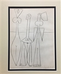 PICASSO *THREE WOMEN* MATTED LITHOGRAPH