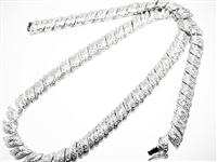 HEAVY STERLING SILVER FASHION NECKLACE
