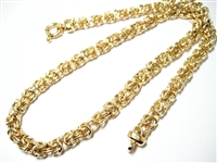 ITALIAN GOLD VERMEIL STERLING BYZANTINE HEAVY NECKLACE