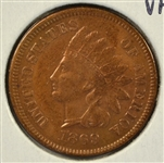 SUPER RARE 1869/9 INDIAN HEAD CENT. XF45 DETAILS