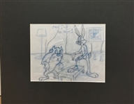 TOM RAY *BUGS AND TAZ* ORIGINAL LAYOUT DRAWING