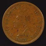 REAL NICE AND SCARCE 1867 INDIAN HEAD CENT IN XF45+