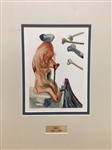 DALI *THE FLATTERER* EXTREMELY RARE WOODCUT MATTED