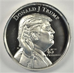 CAMEO PROOFLIKE DONALD TRUMP PURE SILVER 2 oz MEDALLION