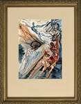 DALI ** THE TWO CROWDS OF THE LUSTFUL ** WOODCUT
