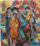 MANOR SHADIAN ** THREE MUSICAL ENTERTAINERS **ORIGINAL MIXED MEDIA