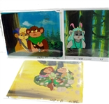 LOT OF 3 STAR WARS EWOKS ANIMATION CELS
