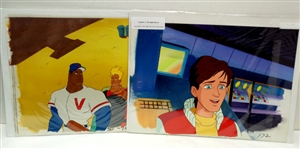 LOT OF 2 CAPTAIN N : THE GAME MASTER ANIMATION CELS