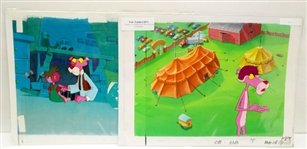LOT OF 2 PINK PANTHER ORIGINAL ANIMATION CELS