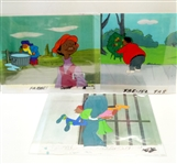 LOT OF 3 FAT ALBERT ANIMATION CELS