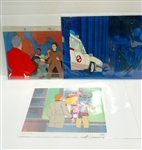 LOT OF 3 THE REAL GHOSTBUSTERS ORIGINAL ANIMATION CELS