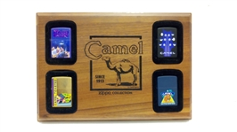 VINTAGE CAMEL CIGARETTES ZIPPO COLLECTION DISPLAY
