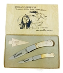 RARE PARKER CUT CO INDIAN SERIES VI 1 OF 1500 KNIVES