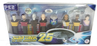 COLLECTORS STAR TREK THE NEXT GENERATION 25TH ANNIVERSARY PEZ DISPENSERS