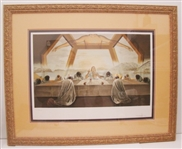 SALVADOR DALI **LAST SUPPER** SIGNED IN PENCIL AND FRAMED