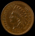SHARP AU 1875 INDIAN HEAD CENT. BETTER DATE