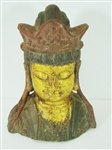 ANTIQUE CAST METAL ASIAN FIGURE HEAD