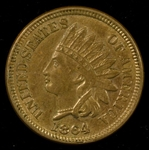 NEEDLE SHARP UNCIRCULATED 1864 COPPER NICKEL INDIAN HEAD CENT