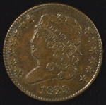 CHOICE BROWN 1825 CLASSIC HEAD HALF CENT. BETTER DATE