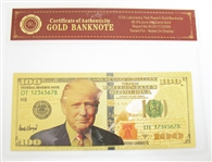 DONALD TRUMP NOVELTY 24K GOLD BANKNOTE