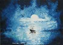 CUMPATA *** BLUE ALASKA ***  SIGNED ORIGINAL OIL PAINTING