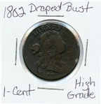 SCARCE COLLECTIBLE 1802 DRAPED BUST LARGE CENT