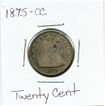 SCARCE 1875 CARSON CITY 20 CENT COIN