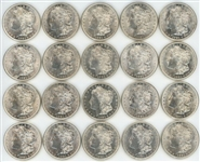 FRESH ORIGINAL BU ROLL OF 20 1921 MORGAN SILVER DOLLARS