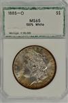 GEM BU 1885-O MORGAN SILVER DOLLAR PCI MS65