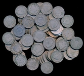 BAG OF 125 ASSORTED MIXED DATE LIBERTY HEAD V NICKELS