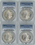 1878-S, 1879-O, 1881-O, & 1890-S MORGAN SILVER DOLLARS IN PCGS HOLDERS