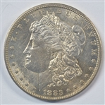 LUSTROUS NEARLY MINT STATE 1883-S MORGAN SILVER DOLLAR. SCARCE S MINT