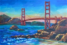 RAFAEL ** HOMAGE TO THE GOLDEN GATE ** SIGNED ACRYLIC