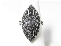 MARCASITE & STERLING SILVER ESTATE RING
