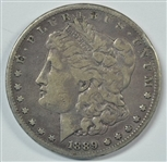 ULTRA RARE 1889-CC MORGAN SILVER DOLLAR IN VF