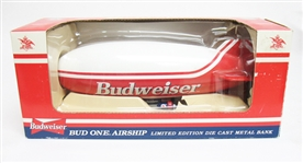 VINTAGE BUDWEISER BUD ONE AIRSHIP DIE CAST METAL BANK