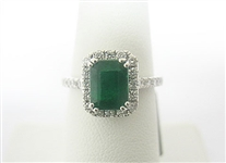 14K EMERALD AND DIAMOND RING 2.37 C.T.W.
