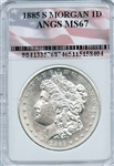 RARE HIGHLY GRADED 1885 S MORGAN SILVER DOLLAR