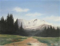 CUMPATA *** COLORADO MOUNTAINS *** HAND EMBELLISHED SIGNED CANVAS