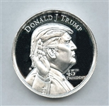 DONALD TRUMP TWO OUNCE .999 PURE FINE SILVER COMMEMORATIVE ROUND