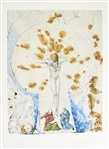 DALI *** CHRIST WITH ILLUMINATIONS *** SIGNED LITHOGRAPH