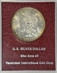 GEM BU 1884-P MORGAN SILVER DOLLAR. MS65 REDFIELD COLLECTION