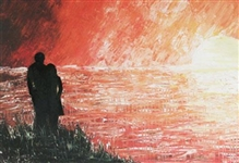 CUMPATA ***FOREVER SUNSET*** HAND EMBELLISHED SIGNED CANVAS