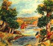 RENOIR ** SAILING BOATS IN CAGNES **