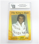 RARE ELVIS PRESLEY HAIR, GAI CERTIFIED