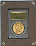 1857 S $20 LIBERTY GOLD FROM THE S.S. CENTRAL AMERICA TREASURE SHIP OF GOLD