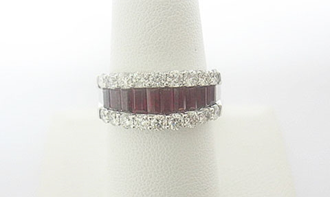 14K RUBY AND DIAMOND RING 2.84 C.T.W.