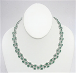 PLATINUM EMERALD AND DIAMOND NECKLACE 38.04 C.T.W