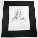 LENNON *** SKETCH OF JOHN AND YOKO *** LITHOGRAPHIC PRINT